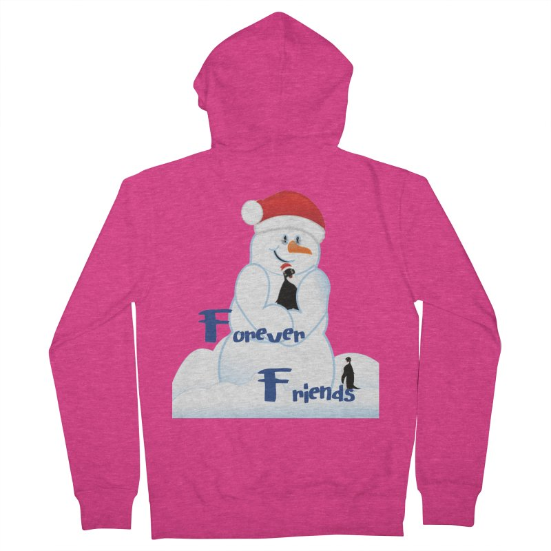 Forever Friends Women's French Terry Zip-Up Hoody by MyInspirationalGifts Artist Shop