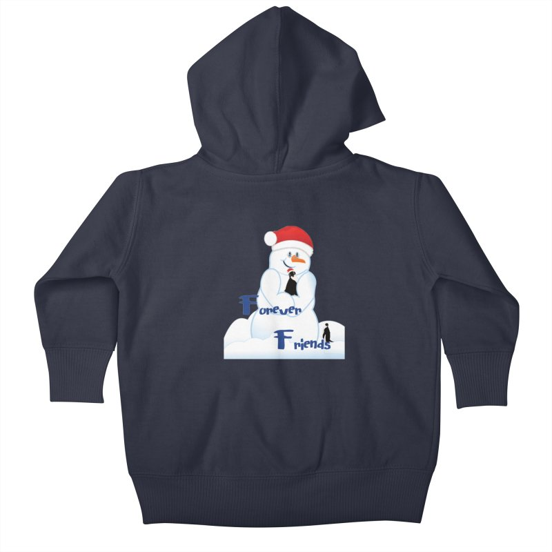 Forever Friends Kids Baby Zip-Up Hoody by MyInspirationalGifts Artist Shop