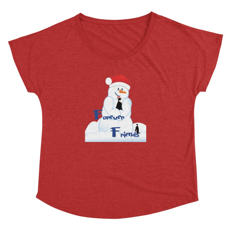 Forever Friends Women's Dolman Scoop Neck by MyInspirationalGifts Artist Shop