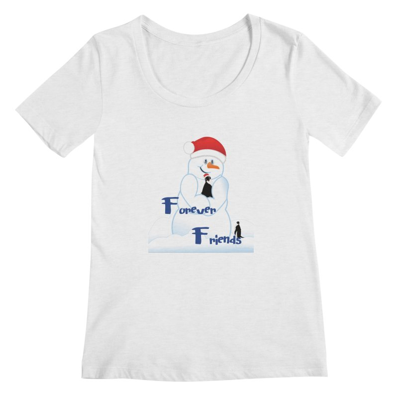 Forever Friends Women's Regular Scoop Neck by MyInspirationalGifts Artist Shop
