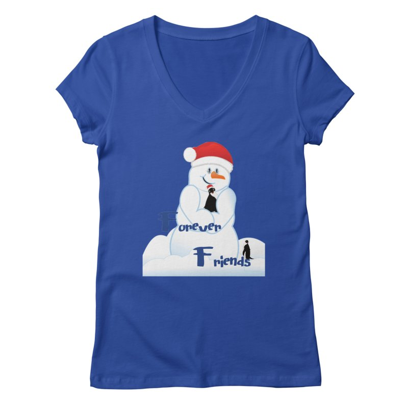 Forever Friends Women's Regular V-Neck by MyInspirationalGifts Artist Shop