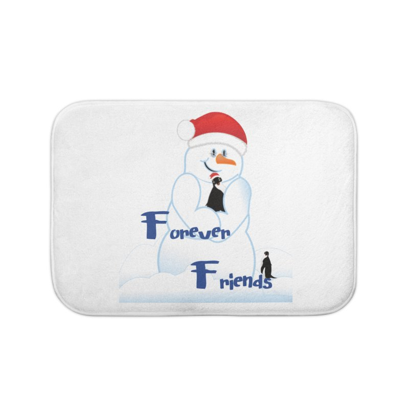 Forever Friends Home Bath Mat by MyInspirationalGifts Artist Shop