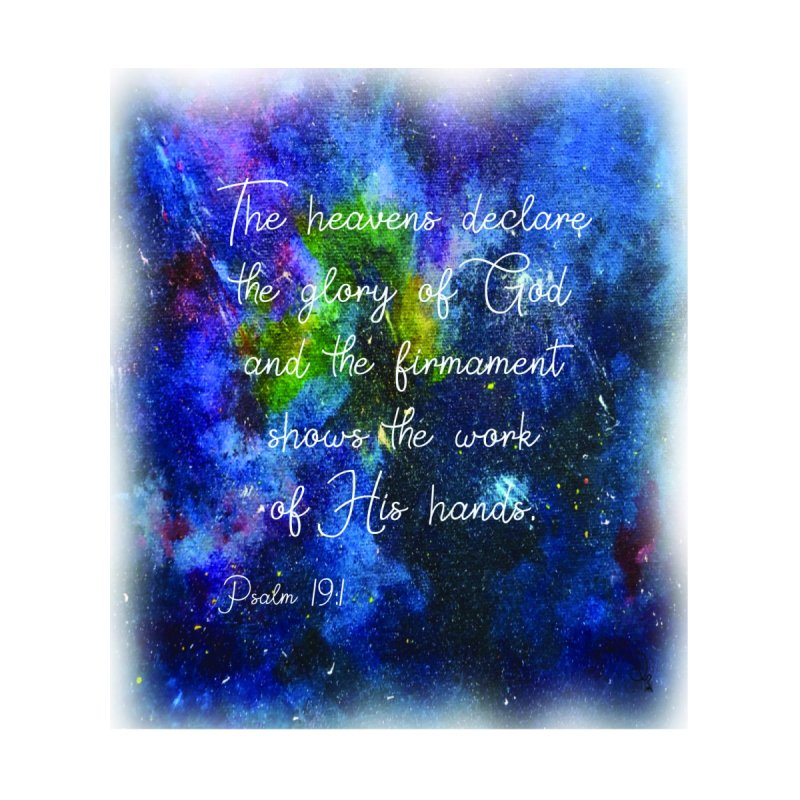 Psalms 19:1 The Heavens Declare Home Blanket by MyInspirationalGifts Artist Shop