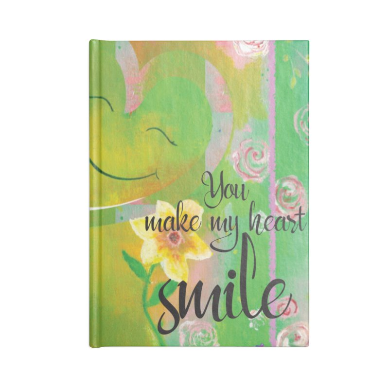 Heart Smile Accessories Blank Journal Notebook by MyInspirationalGifts Artist Shop