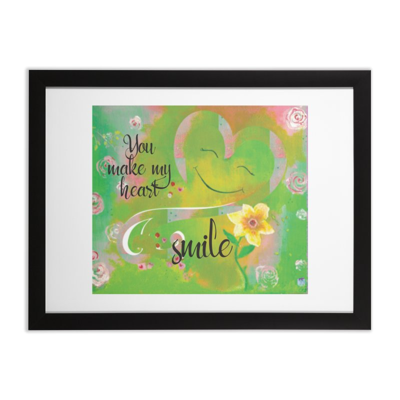 Heart Smile Home Framed Fine Art Print by MyInspirationalGifts Artist Shop