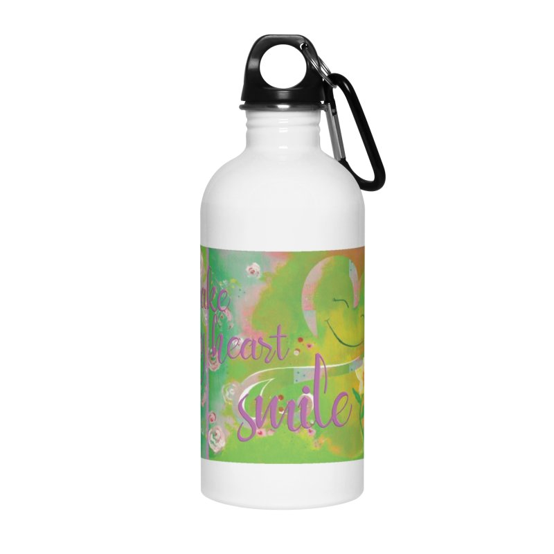 Heart Smile Accessories Water Bottle by MyInspirationalGifts Artist Shop