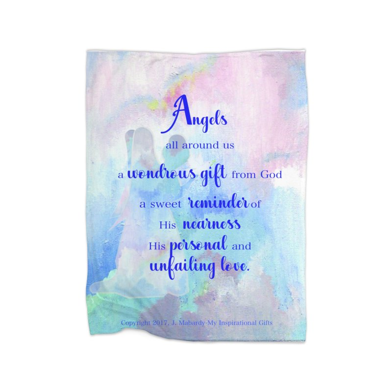 Angels Home Blanket by MyInspirationalGifts Artist Shop