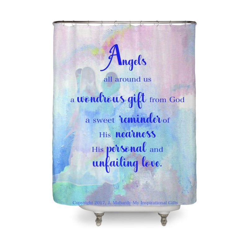Angels Home Shower Curtain by MyInspirationalGifts Artist Shop
