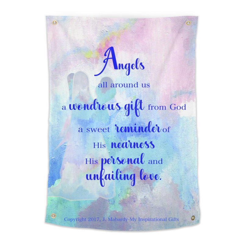 Angels Home Tapestry by MyInspirationalGifts Artist Shop