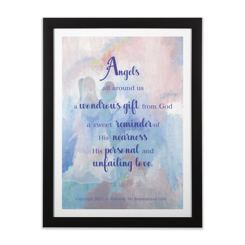Angels Home Framed Fine Art Print by MyInspirationalGifts Artist Shop