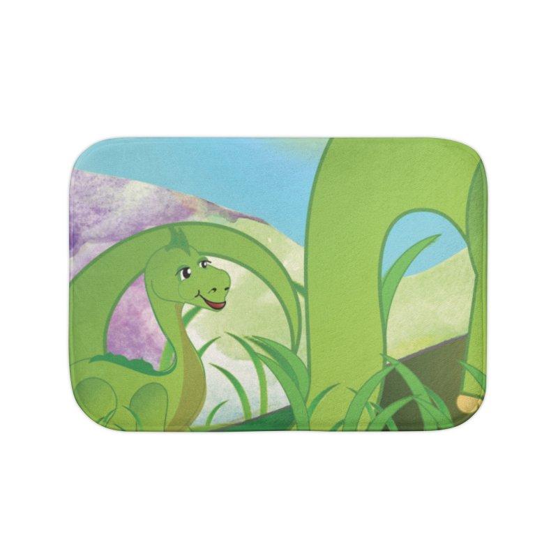 Little Dino Home Bath Mat by MyInspirationalGifts Artist Shop