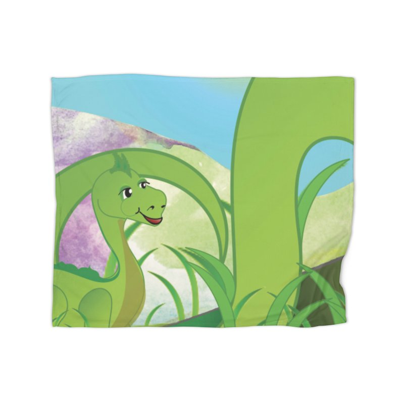 Little Dino Home Blanket by MyInspirationalGifts Artist Shop
