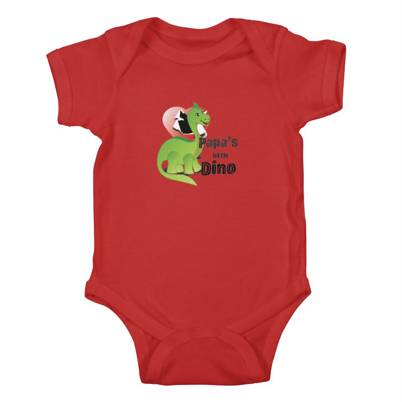Little Dino Kids Baby Bodysuit by MyInspirationalGifts Artist Shop