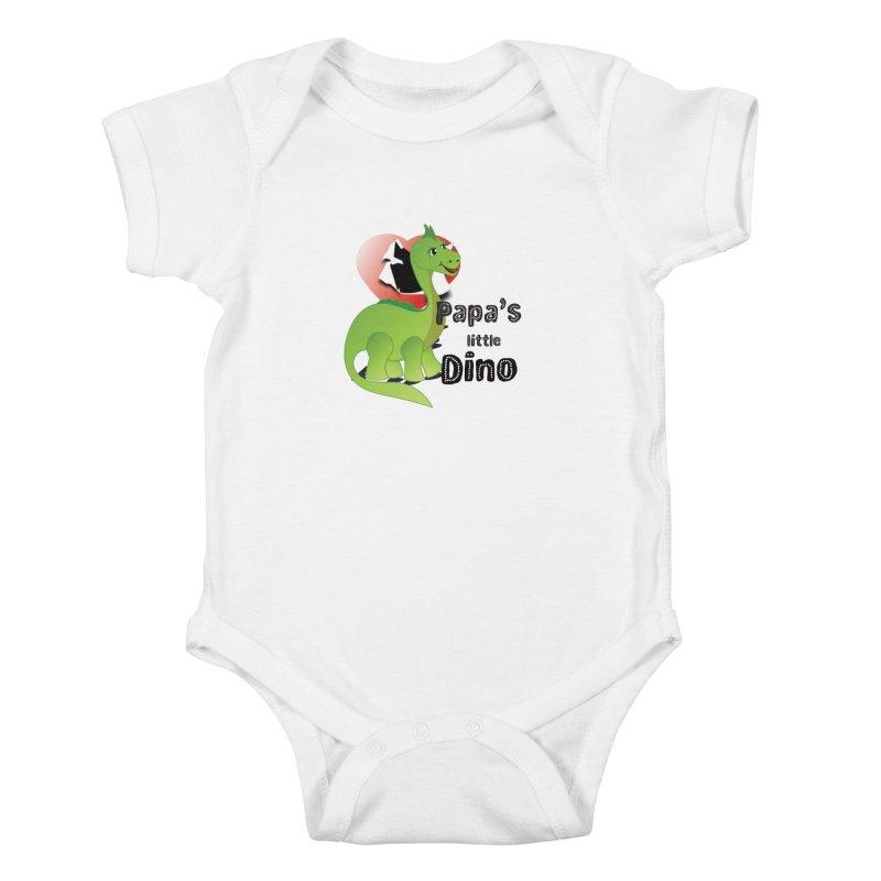Little Dino Kids Baby Bodysuit by MyInspirationalGifts Artist Shop