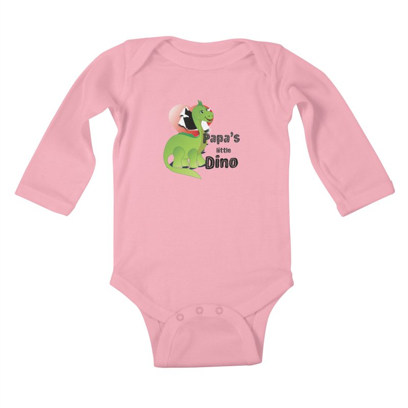 Little Dino Kids Baby Longsleeve Bodysuit by MyInspirationalGifts Artist Shop