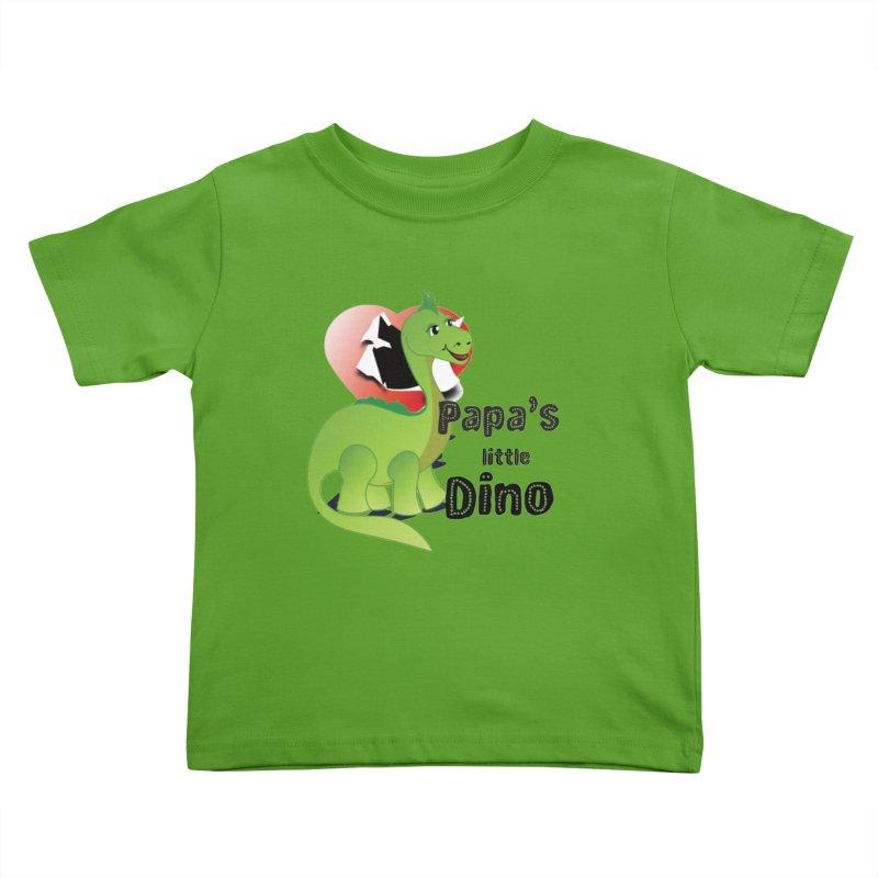 Little Dino Kids Toddler T-Shirt by MyInspirationalGifts Artist Shop