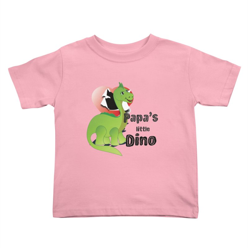 Little Dino Kids Toddler T-Shirt by MyInspirationalGifts Artist Shop