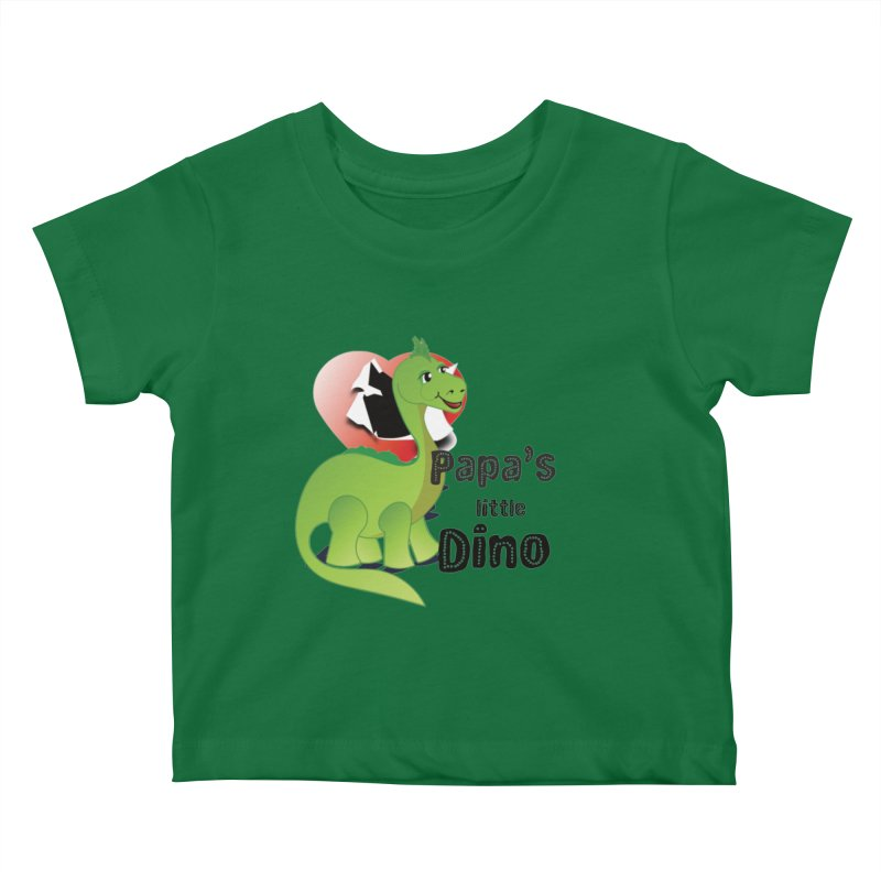 Little Dino Kids Baby T-Shirt by MyInspirationalGifts Artist Shop