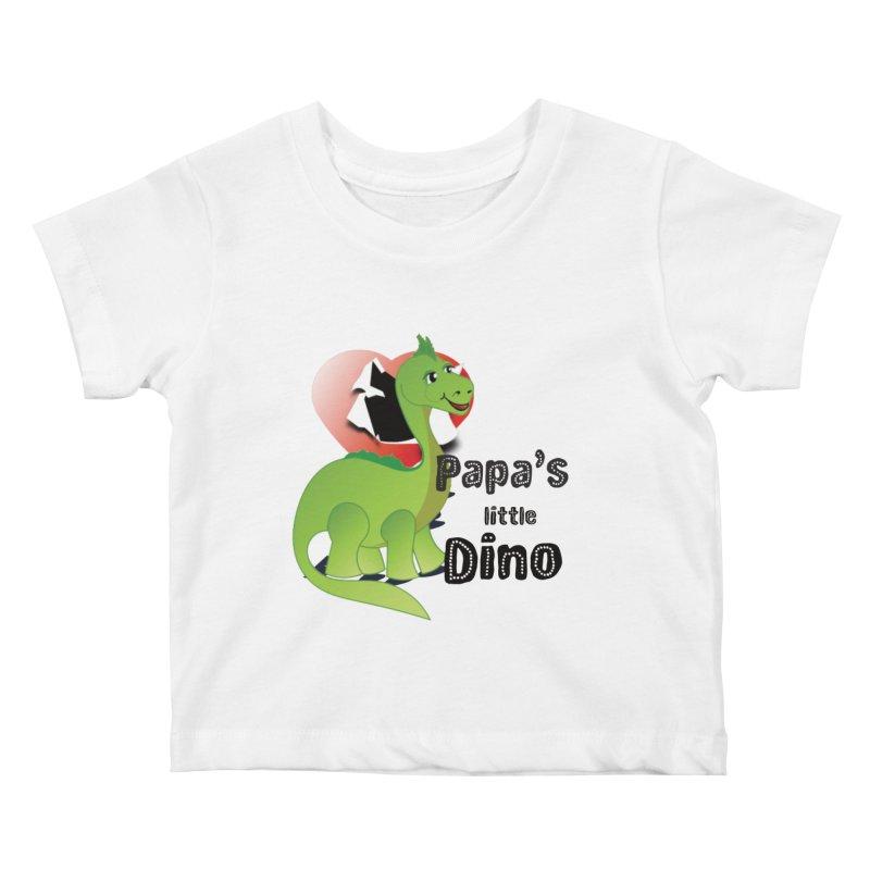 Little Dino Kids Baby T-Shirt by MyInspirationalGifts Artist Shop