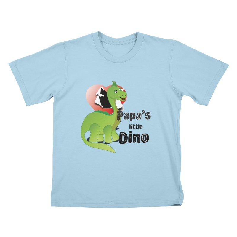 Little Dino Kids T-Shirt by MyInspirationalGifts Artist Shop