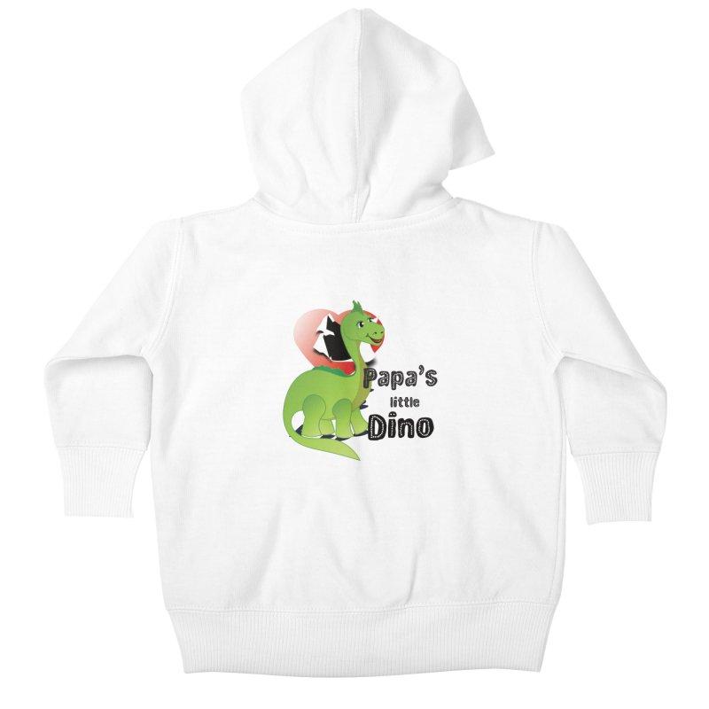 Little Dino Kids Baby Zip-Up Hoody by MyInspirationalGifts Artist Shop