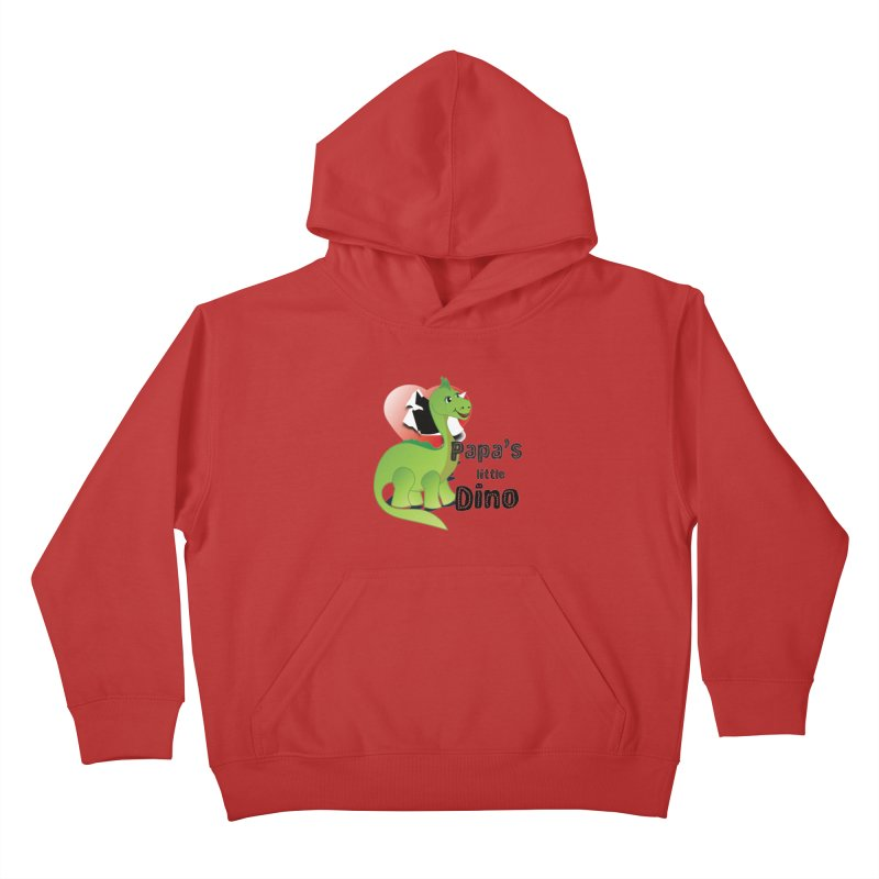 Little Dino Kids Pullover Hoody by MyInspirationalGifts Artist Shop