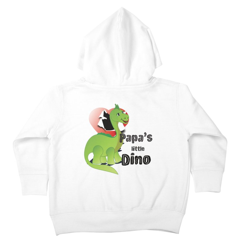 Little Dino Kids Toddler Zip-Up Hoody by MyInspirationalGifts Artist Shop