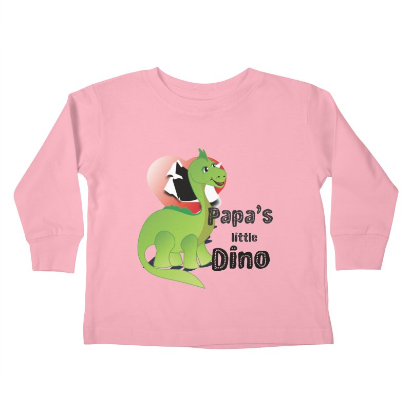 Little Dino Kids Toddler Longsleeve T-Shirt by MyInspirationalGifts Artist Shop