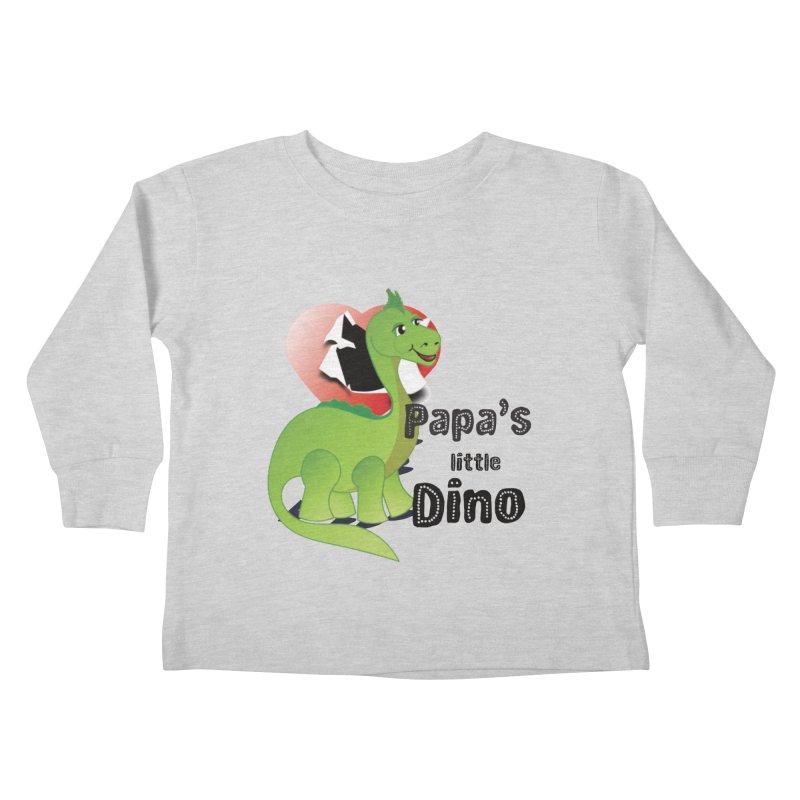 Little Dino Kids Toddler Longsleeve T-Shirt by MyInspirationalGifts Artist Shop