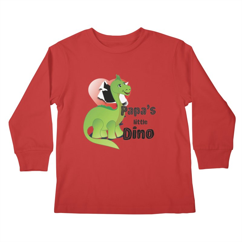 Little Dino Kids Longsleeve T-Shirt by MyInspirationalGifts Artist Shop