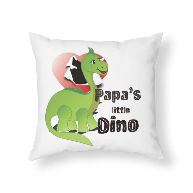 Little Dino Home Throw Pillow by MyInspirationalGifts Artist Shop