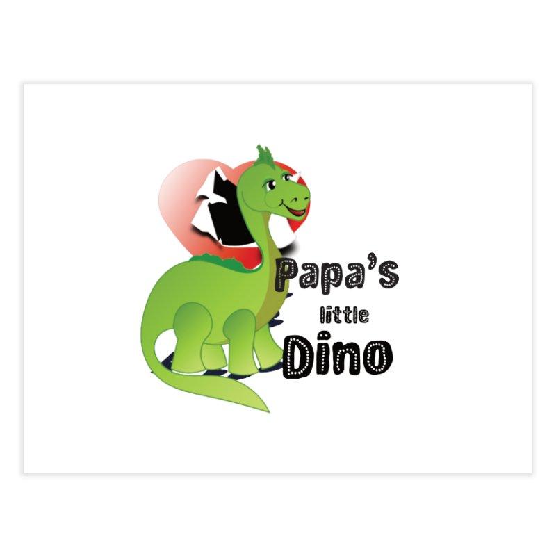 Little Dino Home Fine Art Print by MyInspirationalGifts Artist Shop