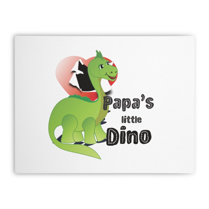 Little Dino Home Stretched Canvas by MyInspirationalGifts Artist Shop