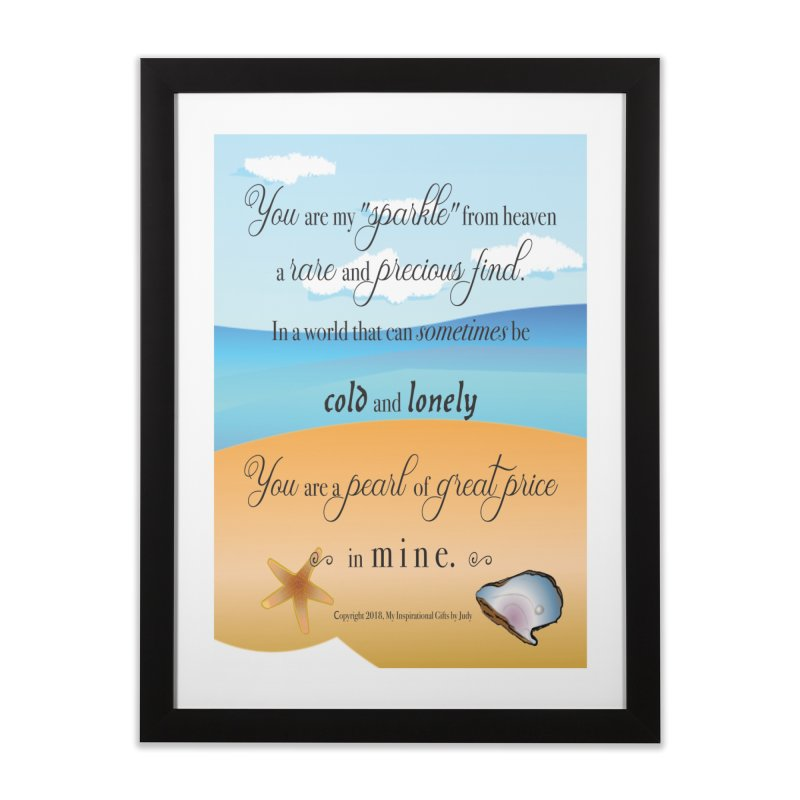 Pearl of Great Price Home Framed Fine Art Print by MyInspirationalGifts Artist Shop
