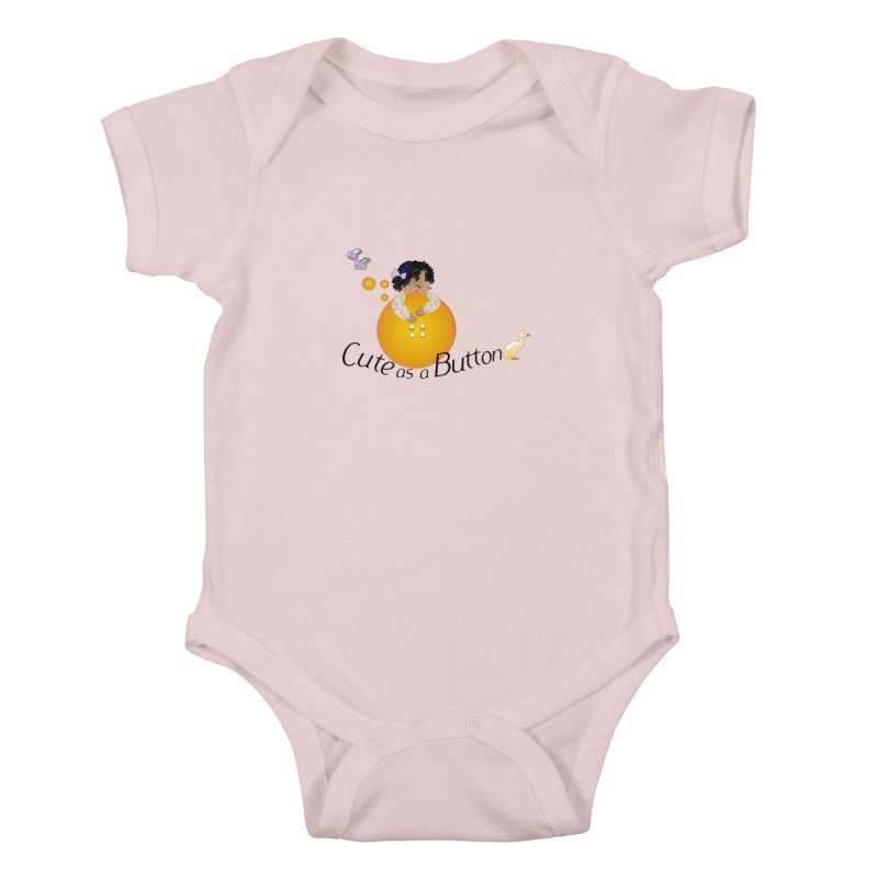 Cute as a Button Kids Baby Bodysuit by MyInspirationalGifts Artist Shop