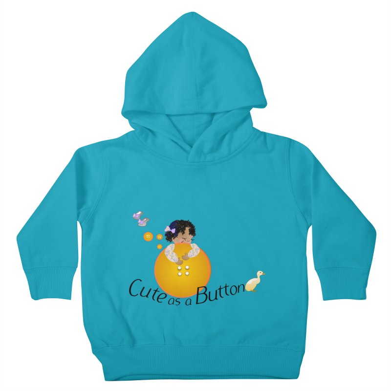 Cute as a Button Kids Toddler Pullover Hoody by MyInspirationalGifts Artist Shop