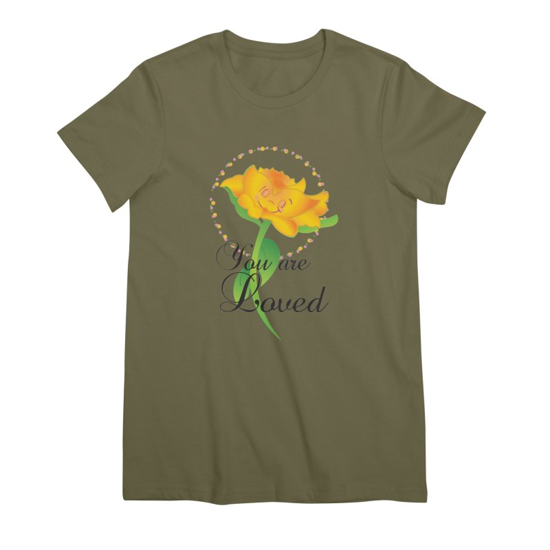 You are Loved Women's Premium T-Shirt by MyInspirationalGifts Artist Shop