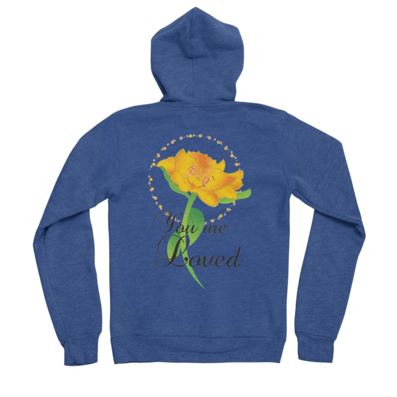 You are Loved Women's Sponge Fleece Zip-Up Hoody by MyInspirationalGifts Artist Shop