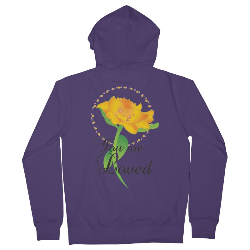 You are Loved Women's French Terry Zip-Up Hoody by MyInspirationalGifts Artist Shop