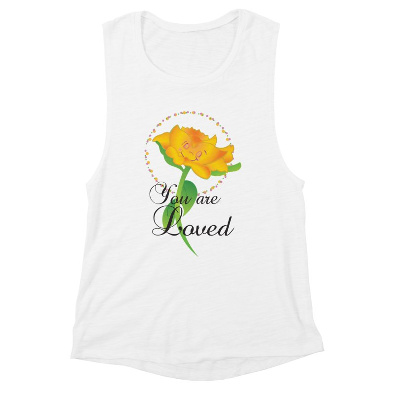 You are Loved Women's Muscle Tank by MyInspirationalGifts Artist Shop