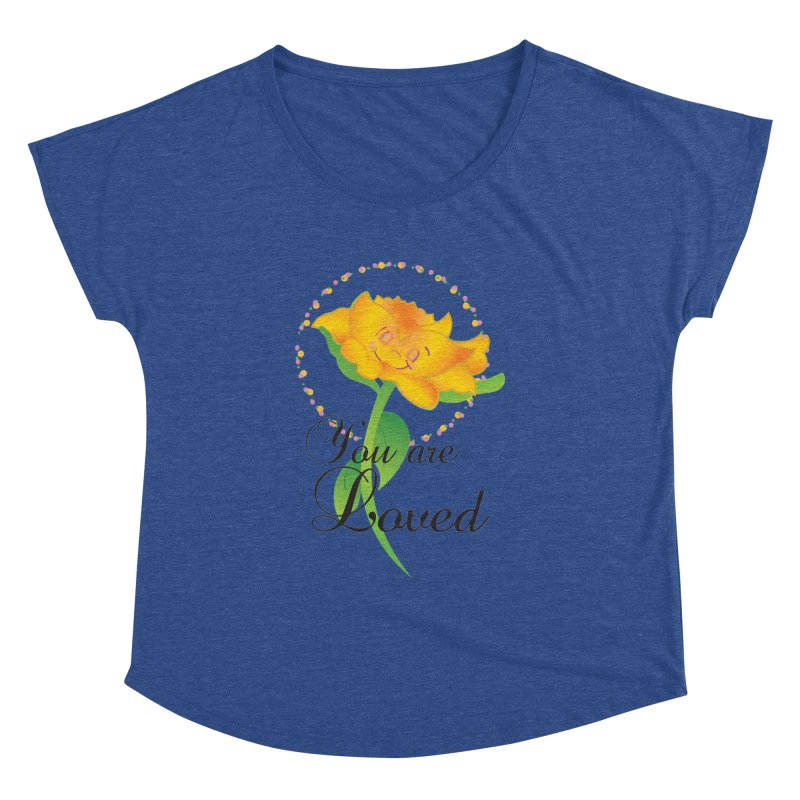 You are Loved Women's Dolman Scoop Neck by MyInspirationalGifts Artist Shop
