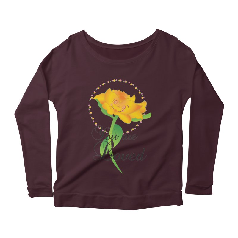You are Loved Women's Scoop Neck Longsleeve T-Shirt by MyInspirationalGifts Artist Shop