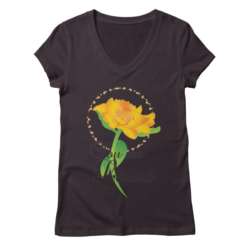You are Loved Women's Regular V-Neck by MyInspirationalGifts Artist Shop