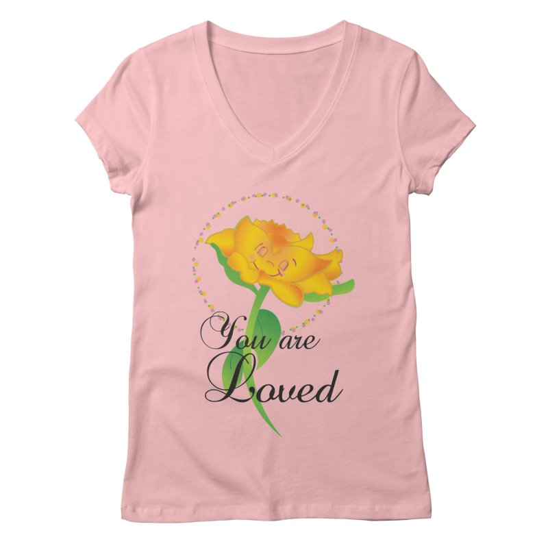 You are Loved Women's Regular V-Neck by MyInspirationalGifts Artist Shop