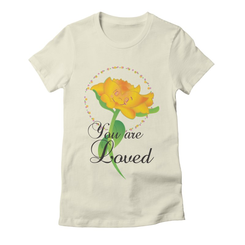 You are Loved Women's Fitted T-Shirt by MyInspirationalGifts Artist Shop