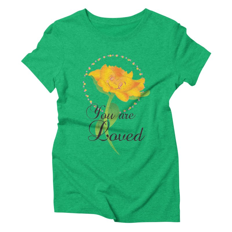 You are Loved Women's Triblend T-Shirt by MyInspirationalGifts Artist Shop