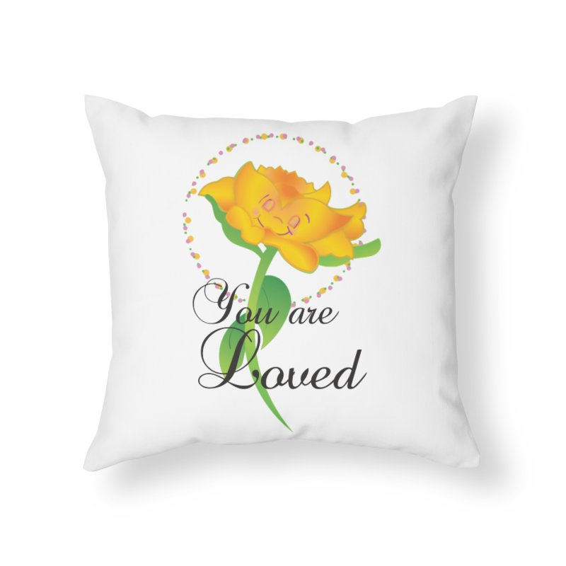 You are Loved Home Throw Pillow by MyInspirationalGifts Artist Shop