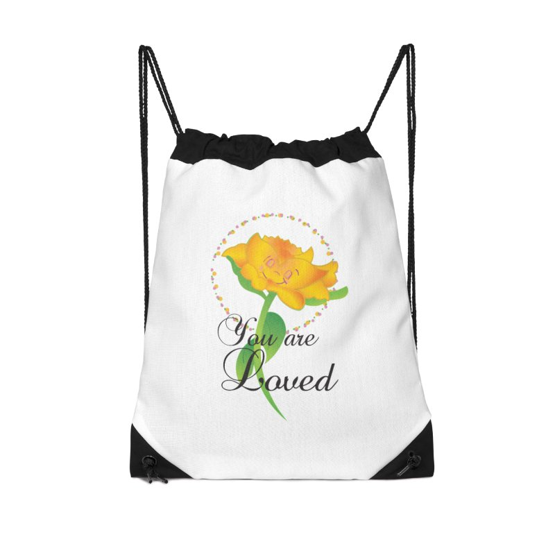 You are Loved Accessories Drawstring Bag Bag by MyInspirationalGifts Artist Shop