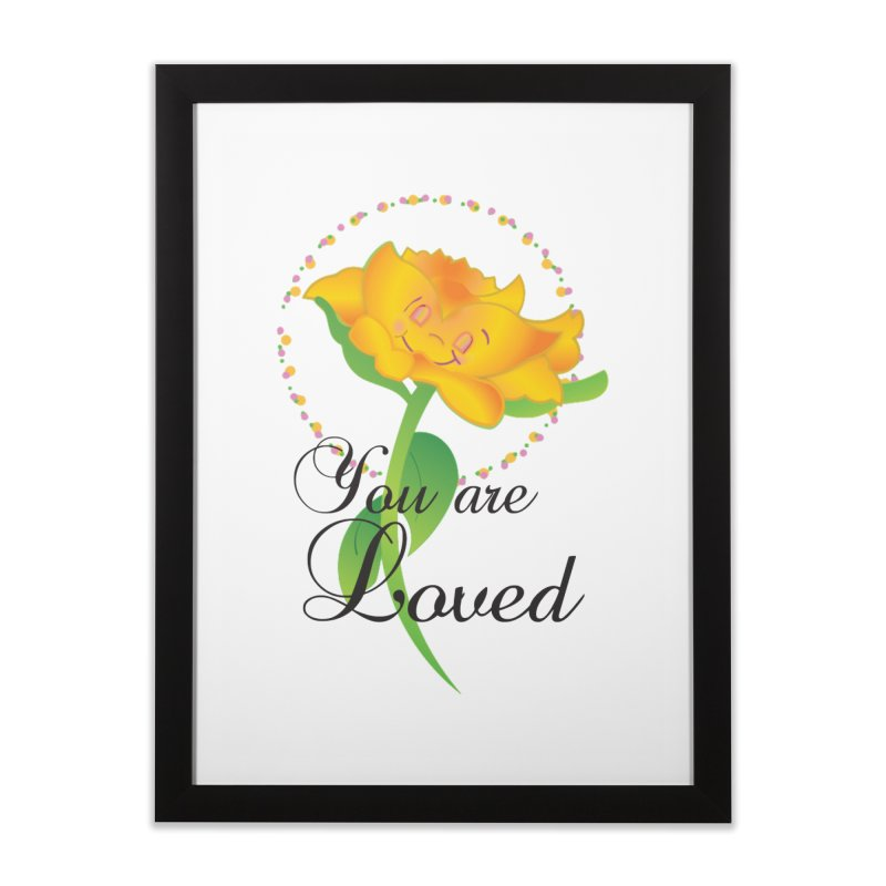 You are Loved Home Framed Fine Art Print by MyInspirationalGifts Artist Shop