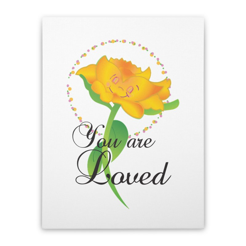 You are Loved Home Stretched Canvas by MyInspirationalGifts Artist Shop